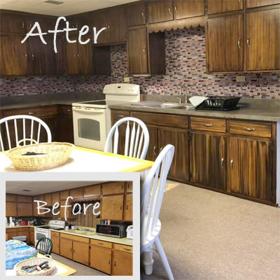 Addiction Recovery Ministries Kitchen Makeover Before and After